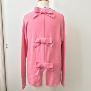 NWT Halogen Bow Back Pink Sweater